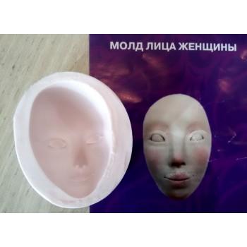 Молд лица женщины 64мм*41мм 0022
