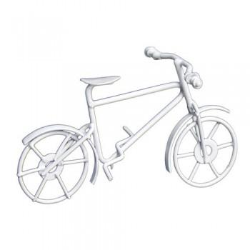 Металлический велосипед, белый 9,7*5,5см 7717606