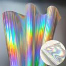Кожа искусственная 20*30см 1 лист голографическое серебро