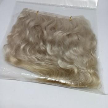 Волосы для кукол натуральные цвет: светло-русый