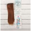 """Волосы - тресс для кукол """"Прямые"""" длина волос 15 см, ширина 100 см, цвет № 30В  2294879"""
