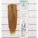 """Волосы - тресс для кукол """"Прямые"""" длина волос 15 см, ширина 100 см, цвет № 16А 2294894"""