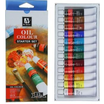 Краски масляные 12 цветов в метал тубе 12 мл (1404031)