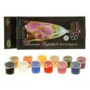 Краска по стеклу и керамики акриловая Эмаль набор 12 цветов х 4мл Element №1