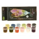 Краска по стеклу и керамики акриловая Эмаль набор 12 цветов х 4мл Element №2