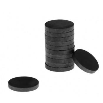 Магнит технический двухсторонний круглый 10 шт. диаметр 2,5 см, толщиной 5мм (457707)