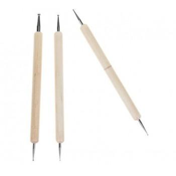 Набор инструментов для лепки d = 0,1/0,2/0,3/0,4 см, 3 шт, 13,5 см 4045899