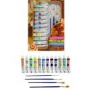 Набор художника Opeth: краски акриловые 12 цветов, 4 кисти, палитра (1404028)