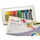 Пастель для ткани Pentel FabricFun Pastels, 15 цветов (1416823)