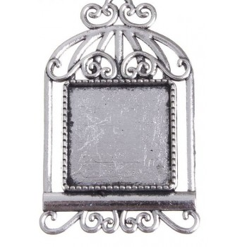 Основа для броши (набор 2шт), площадка 20*20мм, цвет черненое серебро (1507965)