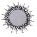 Основа для броши (набор 2 шт)площадка 25 мм, цвет черненое серебро (1507977)