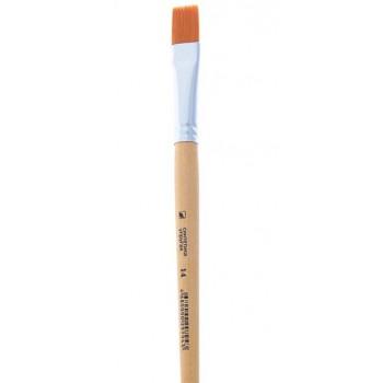 Кисть Хобби плоская, из упругой синтетики № 14 b-14мм L-18мм (1195767)