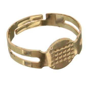 Основа для кольца, регулируемый размер, цвет золото (1353652) 1шт