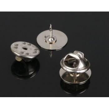 Основа для броши/значка (набор 5шт), площадка 1,2см, цвет серебро (2328120)