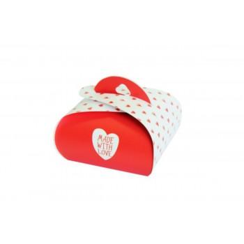 Подарочная коробочка Бонбоньерка Made With Love, 2 шт в уп 0915