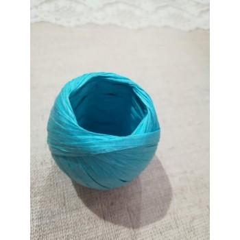 Рафия бобина 20м, голубая