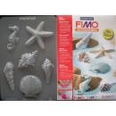 Форма пластиковая Fimo 8742-08  морские ракушки