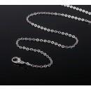 Цепочка с карабином, декоративная, мелкое плетение, 45см, цвет серебро 1353676, 1 шт