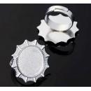Основа для кольца  регул-й раз-р,площадка 18мм, J048, цвет серебро 1507915 1шт