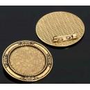 Основа для броши (набор 2 шт) площадка 30 мм, цвет черненое золото (1507972)