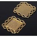 Рамка с сеттингом (набор 4шт), площадка 20*20мм, JC-628, цвет черненое золото 1508514