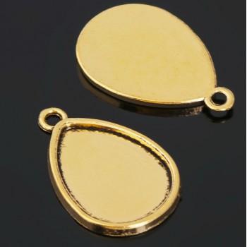 Рамка с сеттингом (набор 4шт) площадка 18*25мм, JC-658, цвет черненое золото 1508554