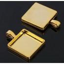 Рамка с сеттингом (набор 4шт) площадка 20*20мм, JC-702, цвет черненое золото 1508594