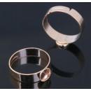 Основа для кольца регул-й раз-р, площадка 6мм, цвет золото 1514925 1шт
