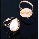 Основа для кольца  регул-й раз-р, площадка 16мм, цвет золото 1514942 1шт