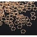 Кольцо соединительное 0,5*4мм (набор 50гр, ±1100 шт ) цвет золото 1515017