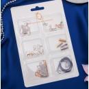 Набор для создания украшений №6 цвет золото-серебряный 2751134