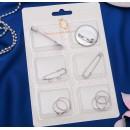 Набор для создания украшений №8 цвет серебро 2751136