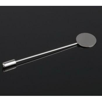 Основа для булавки (набор 5шт), площадка 1,5см, длина 7,5см, цвет серебро