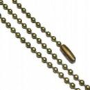 Цепочка с шариковыми звеньями 10,5 см   замок набор 10 шт бронза