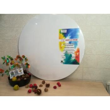 Холст круглый на подрамнике грунтованный, хлопок 100%, 50см