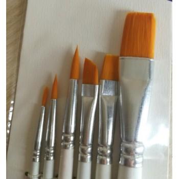 Набор кистей Синтетика 5 штук BRAUBERG (круглая № 1,2,5, плоская № 5,8), 1929482