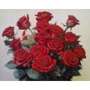 """Картина по номерам на холсте Q2254 """"Красные розы"""", 40х50 см"""