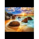 """Картина по номерам на холсте Q4620 """"Камни в воде"""" 40*50 см"""