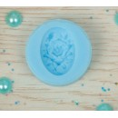 """Молд силикон для полимерной глины """"Роза"""" 2,5х1,7 см (2340377)"""