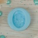 """Молд силикон для полимерной глины """"Девушка в шляпке"""" 2,5х1,7 см (2340394)"""