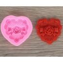"""Молд силиконовый 7,5х7х2 см """"Ажурная роза"""" 1210667"""