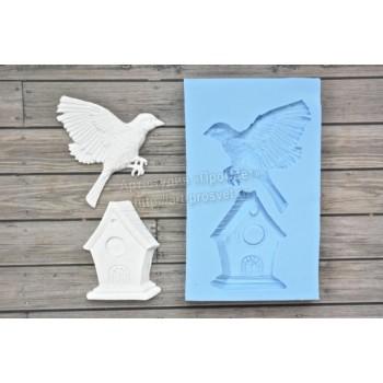 Молд птица и домик ARTMNB003