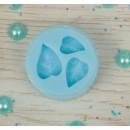 """Молд силикон для полимерной глины №506 """"Листочки"""" 1,5 см"""